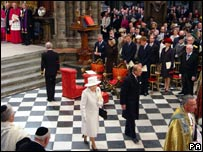 The Queen and Prince Philip at Westminster Abbey