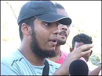 Sayeed Rahman, a telecoms consultant who was in South Khali when the storm struck, speaks to the BBC on Monday