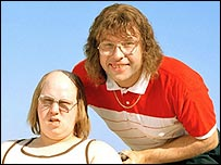 Matt Lucas and David Walliams as Little Britain's Andy and Lou