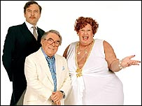 David Walliams, Ronnie Corbett and Matt Lucas in Little Britain Abroad