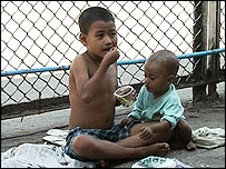 Street children in Burma