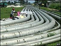 Oleoducto en Nigeria.
