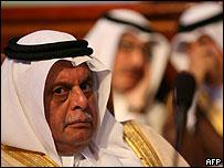 Ministros de petr�leo de Qatar.