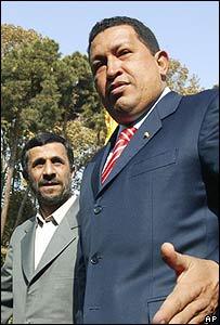 Mahmoud Ahmadinejad y Hugo Ch�vez