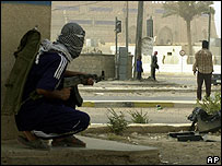 Iraqi insurgents in Ramadi