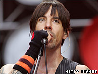 Anthony Kiedis, of the Red Hot Chili Peppers