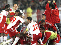 Fans of Etoile du Sahel celebrate