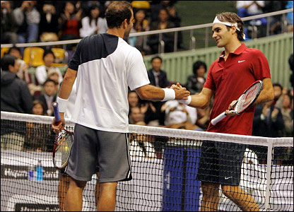Pete Sampras and Roger Federer