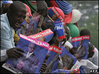 Supporters of President Mwai Kibaki