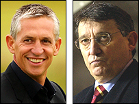 Gary Lineker and Graham Taylor