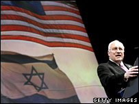US Vice-President Dick Cheney addresses an Aipac meeting in March 2007