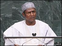 Nigerian President Umaru Yar'Adua speaking to the UN General Assembly (26/09/2007)