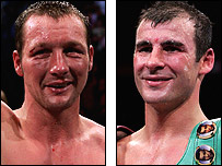 Clinton Woods (left) and Joe Calzaghe