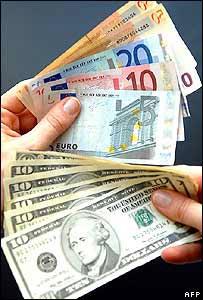 Euros y dólares