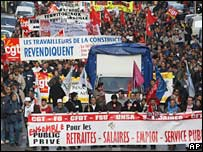 French demonstration by public workers 20-11