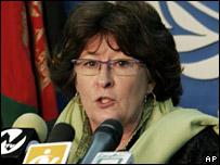 Louise Arbour in Kabul (20 November 2007)