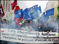 French strikers - 20/11/2007