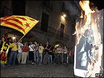 Quema de fotos del rey Juan Carlos