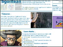 Gaelic education website on BBC