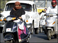 Women drivers in Bhopal (Photo: Raj Patidar)