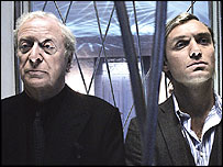 Michael Caine and Jude Law in the Harold Pinter rewrite of Sleuth