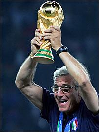 Italy coach Marcello Lippi wins the World Cup in 2006
