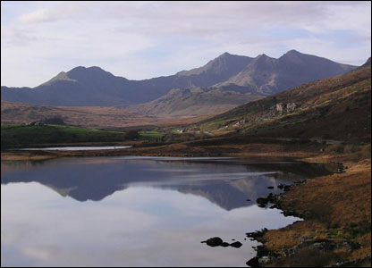 This shot of the Snowdon horseshoe from Llynnau Mymbyr, Capel Curig was taken by Dennis Oliver from Llandudno.