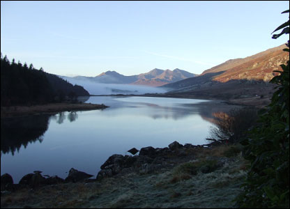 Steve Saunders from Romsey, Hampshire took this shot while at the Plas Y Brenin centre in north Wales.