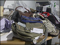 A selection of the bags which were seized by police