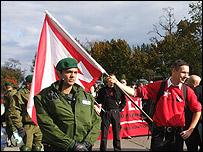 An NPD rally in Pasewalk