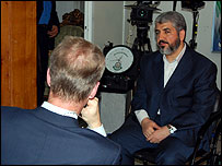stephen sackur talking to Khaled Meshaal