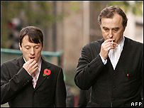 Kieren Fallon (left) with John Kelsey-Fry QC