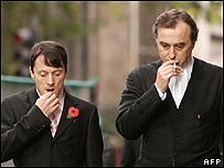 Kieren Fallon (left) with John Kelsey-Fry QC