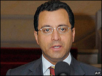 Cesar Mauricio Vel�squez, secretario de prensa de la presidencia de Colombia.
