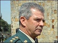 General Mario Montoya, comandante del ej�rcito colombiano.