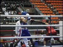 إحدى مباريات الملاكمة