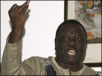 MDC leader Morgan Tsvangirai at CHOGM 07