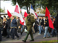 An NPD demonstration in eastern Germany