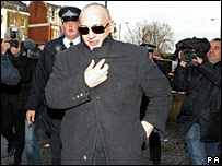 Boy George leaves Thames Magistrates' Court on 22.11.08