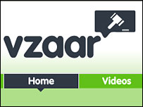 Screengrab of vzaar.com home page