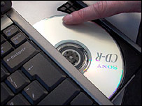 CD with laptop