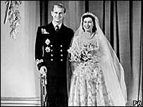 The wedding of the Queen and Duke of Edinburgh