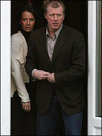 Steve McClaren and his wife Kathryn leave Sopwell House Hotel