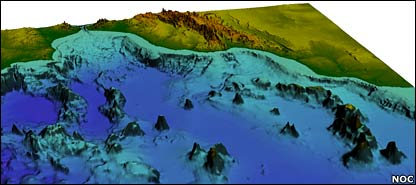 3D reconstruction of sea bed. Image: National Oceanography Centre, Southampton