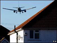 Plane over Hounslow, west London