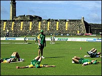 The Galle outfield before the tsunami struck Sri Lanka