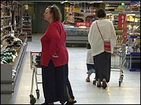 Women shopping in a supermarket