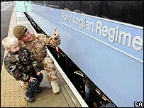 Royal Anglian Regiment at Liverpool St Station