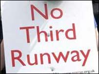 No Third Runway protest sign