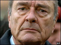 Former French President Jacques Chirac (File picture)
